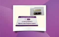 соколенко визитка магнит